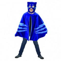 Caritan Pyjamasques deguisement cape-plaid + masque bleu