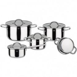 GSW Meran - Batterie de cuisine 9 pieces en acier inoxydable