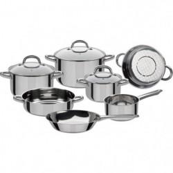 GSW Montreal - Batterie de cuisine 10 pieces en acier inoxydable