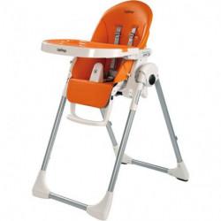 PEG PEREGO Chaise Haute Zero3 - Coloris Orange Uni