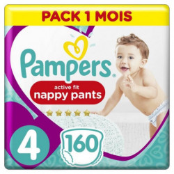 Pampers Active Fit Pants Taille 4, 160 Couches-Culottes