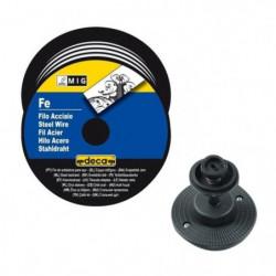 DECA Bobine fil acier pour soudure MIG/MAG Ø fil 0,8 mm 5 kg
