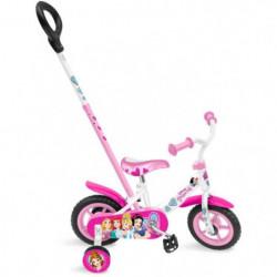 """STAMP Vélo princesse - 10"""" - Pignon fixe et canne"""