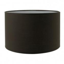 Abat-jour forme Cylindre - Ø 19 x H 14 cm - Polycoton - Brun
