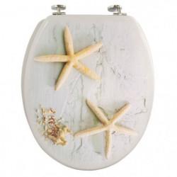FRANDIS Abattant WC bois décor étoile de mer