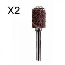DREMEL 2 bande de ponçage grain 60 + mandrin 430