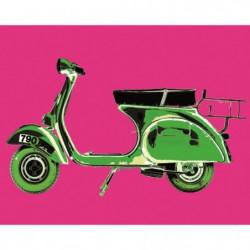 Affiche papier -  Vespa on Pink  - Tell  - 40x50 cm