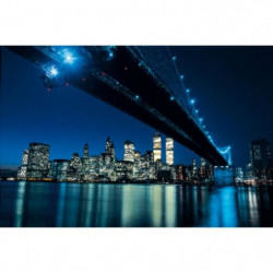 Affiche papier -  Brooklyn Bridge at Night  - Silberman  - 6