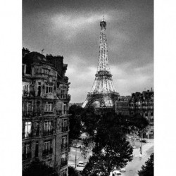 Affiche papier -  Eiffel Tower Evening  - Silberman  - 60x80