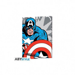 Toile Marvel - Captain America pop art (30x40) - ABYstyle