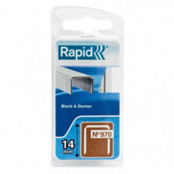 RAPID Agrafes galvanisées - Fil plat - N°970/14 mm
