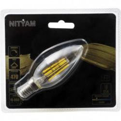 Ampoules LED E14 flamme filament clair - 4 W équivalence 40