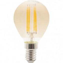 Ampoules LED E14 sphérique filament ambré - 4 W équivalence