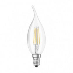 OSRAM Ampoule LED Flamme coup de vent E14 - 4 W - Claire fil