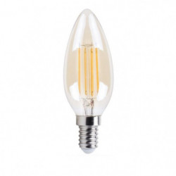 XQ-Lite Ampoule bougie or LED E14 XQ1462G 4 W équivalent à 3