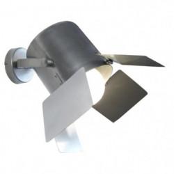 ABBAS Applique tôle acier repoussé 40x40x34 cm Aluminium