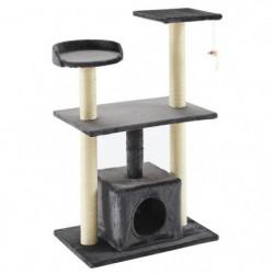 Arbre à chat Luigi - 60x40x95cm - Gris