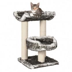TRIXIE Isaba Arbre à chat Hauteur 62 cm noir et blanc peluch
