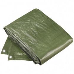 CONFLOR Bâche de protection polyethylene vert avec oeillets
