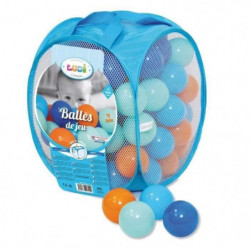 LUDI 75 balles de jeu avec sac de transport Bleu