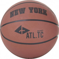 ATHLI-TECH Ballon de basket New York - Orange Foncé - T7