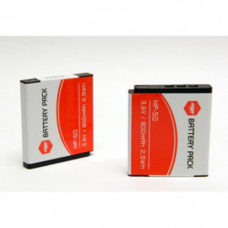 2 x batteries NP-50, NP50 pour FUJIFILM - MP EXTRA