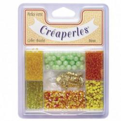 KIMPLAY Kit perles en verre - Jaune