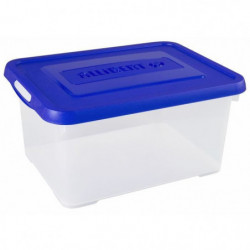 ALLIBERT Boîte de rangement Handy - Couvercle bleu - 15 L