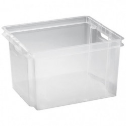 ALLIBERT Boîte de rangement transparent Crownest - Empilable
