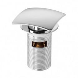 WIRQUIN Bonde de lavabo Quick-Clac - 75 mm - Carré - Avec tr