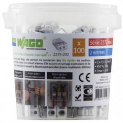 WAGO Seau 100 bornes - 2273 - 2 entrées