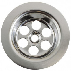 WIRQUIN Grille ronde creuse - Inox - Ø 63 mm - Lavabo ou bid