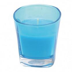Bougie parfumée en verre tinté - Ø 7,2 x H 7,7 cm - Parfum :