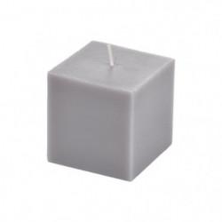 Bougie cube parfum musc H 7,5 cm Violet