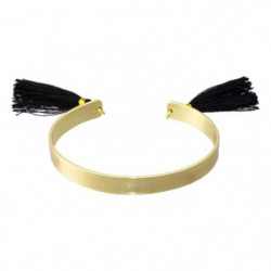 Bracelet Jonc Laiton à Pompon MCR3922NJ Doré Femme