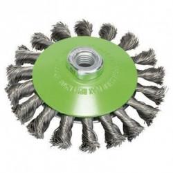BOSCH Brosse conique Diam : 115 mm - Fil d'acier - 1 pieces