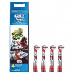 Oral-B Stages Power 4 brossettes de rechange pour brosse à d