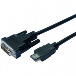 CONTINENTAL EDISON Câble HDMI vers DVI - 2m