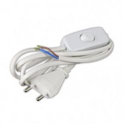 Cordon d'alimentation 1,5m 2x0,75mm² avec interrupteur pour 43672