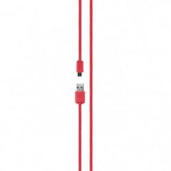 XQISIT Câble charge&synchro 1.8 microUSB/USB - Rouge