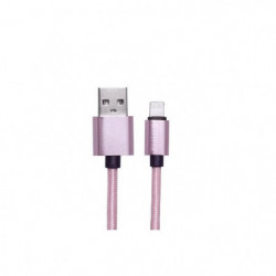PLATYNE Câble USB pour iPhone 5/6/7/8/X - 2A - Rose
