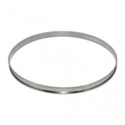 Cercle à tarte en inox -  Ø 8 x H 2 cm - Gris - Tous feux do