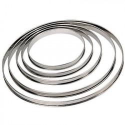 DE BUYER Cercle a tarte - Inox - Ø 26 x H 2 cm - Tous feux d