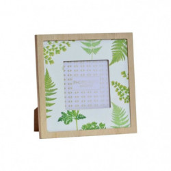 Cadre photo Tropical en bois - 18 x 18 cm - Dimensions photo