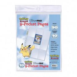 POKEMON - Lot de 10 Feuilles de classeur Pikachu - Cartes a