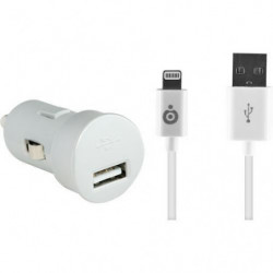 BBC chargeur voiture IP 2.4A - Blanc