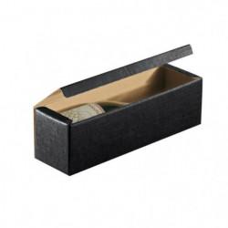 CLASSWINE Boîte carton noir vide pour 1 bouteille
