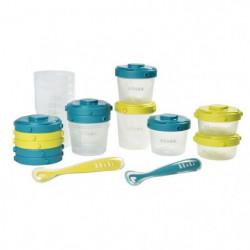 BEABA Pack 1er repas - set portions clip+cuillere 1er âge si