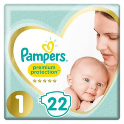PAMPERS Premium Protection New Baby - Taille 1 - 2 à 5Kg - 2
