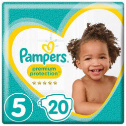 PAMPERS Premium Protection Taille 5 11-23 kg - 20 Couches